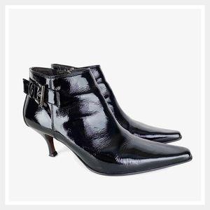 Donald Pliner Loni Low Heel Bootie Shoes Black 10
